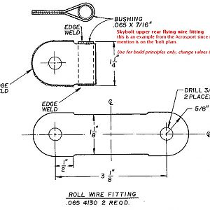 rear flying wire fitting