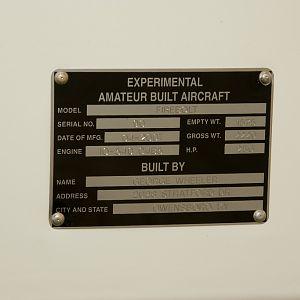 Firebolt data plate