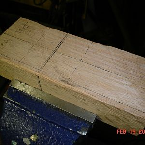 Hardwood Bending Block