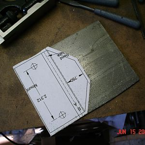 Tail Wheel Mounting Plate