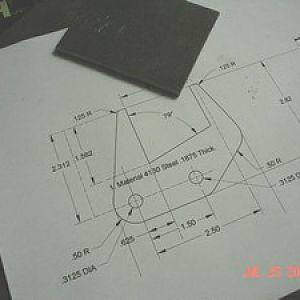 Metal Blank and CAD, bracket