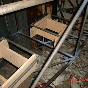 Seat Jigs, jigged in fuselage