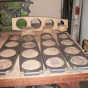 four baffles with form and flanging dies