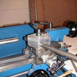tubing setup in lathe