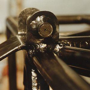 Front gear fitting welded