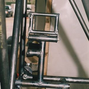 Rudder pedal mounted