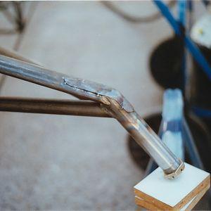 Welding axle