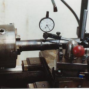 Torque tube in lathe