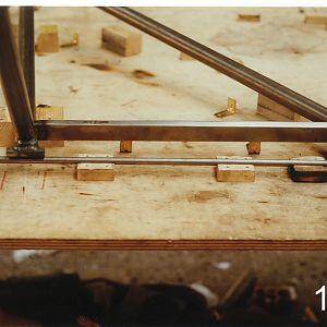 Gear welded on table