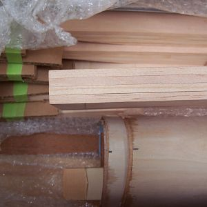 Laminated spars - top view
