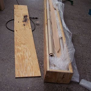 Wing spars - in crates