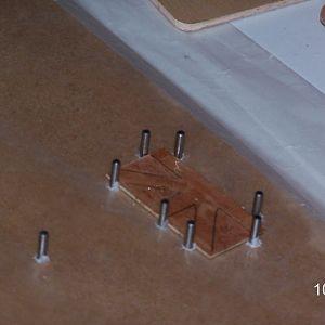 Wing rib jig - closeup