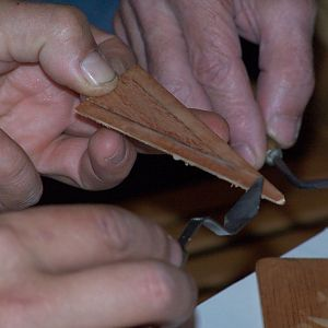 Wing rib - installing gussets