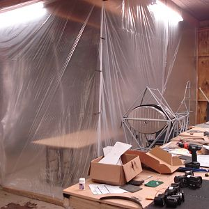 Crude paint booth
