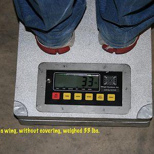 Upper Wing Weight