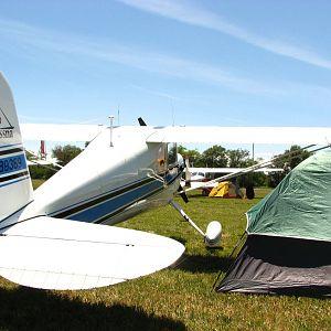 Cessna 140 & tent