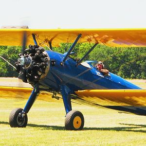 Stearan trainer at 2012 National Biplane Fly In, Junction City, KS