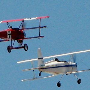 Fokker Triplane and Merkel Mark II at 2012 National Biplane Fly In