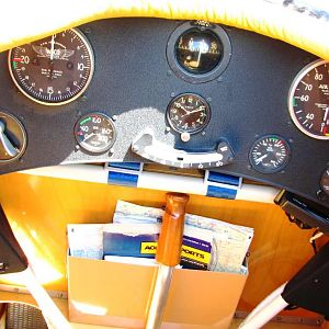 Waco CSO cockpit - 2012 National Biplane Fly In