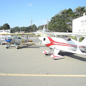 Pitts 104 PT along with nice Smith MiniPlane at Oceano
