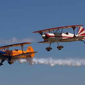 Flying by the cameras at the Junction City Biplane Fly-in