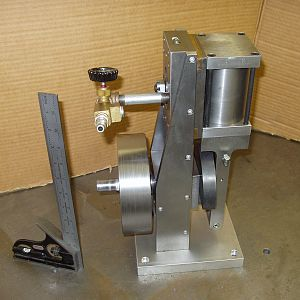 single cylinder oscillating steam engine 2x3 inch bore and stroke made without castings large enough to do some work.