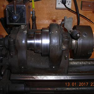 Southbend lathe head with pulley's