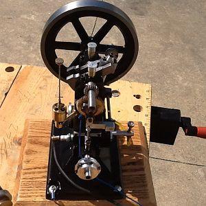 The topsy turvy engine