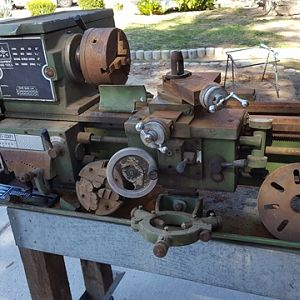 Jet 1024PY lathe as delivered