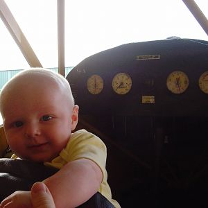 Cooper the newest Cub pilot, 2006