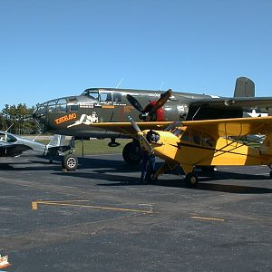 Our Cub, Swift, and a  B25,  2004