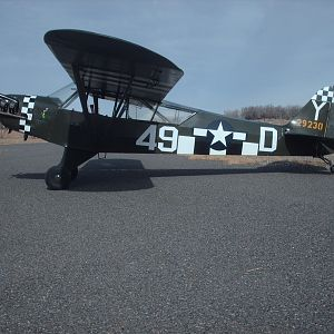 My L-4H at 26NV Darrow Field