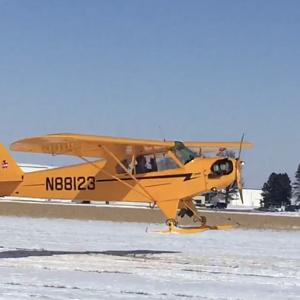 Ski flying in Iowa