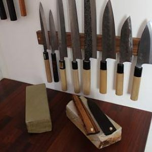 knife rack with some knives