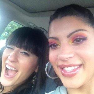 me with my lovely BFF who was my model for my customized makeup application certification!  Which I passed with flying colors!  But who wouldnt pass w
