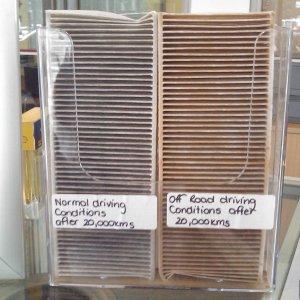 Pollen Filters displayed at Nissan dealer