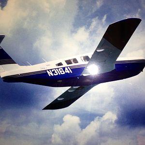 Piper Lance in flight