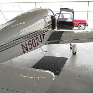 N5024T waxed in hangar