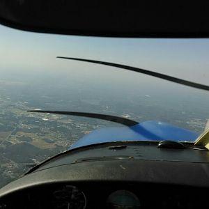 First Flight Test - Front windows view