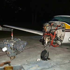 Bird Strike- Engine off the plane