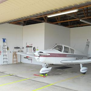 N5024T in hangar at KSGS