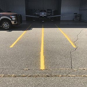 Hangar striping