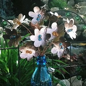 Bouquet Copper Flowers