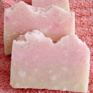 Grapefruit scented rebatched soap