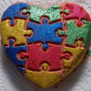 Autism Speaks Bubble Bar Heart