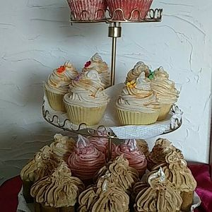 Soap cupcakes display