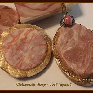 Rhodochrosite Gemstone Jewelry Soap - 2017August04