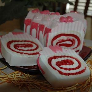 Strawberry Soapcake Loaf All Sliced!