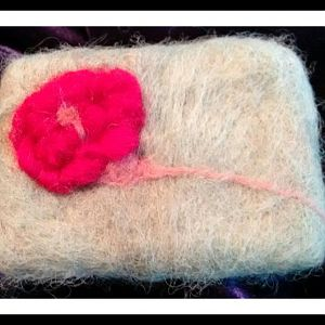 Felted Flower Papay Soap