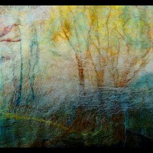 Landscape Felted before applied to soap